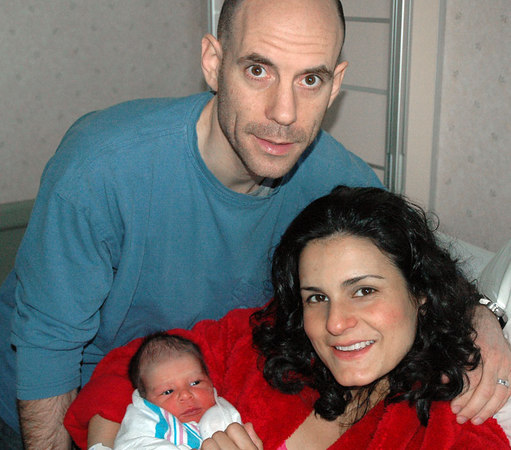 Jasper, Mommy and Daddy - after 24 hours of labor and 2 hours of sleep.